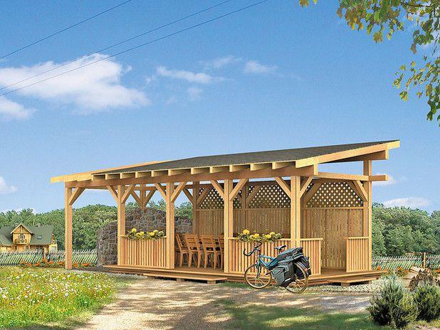 Строительство каркасной беседки с односкатной крышей