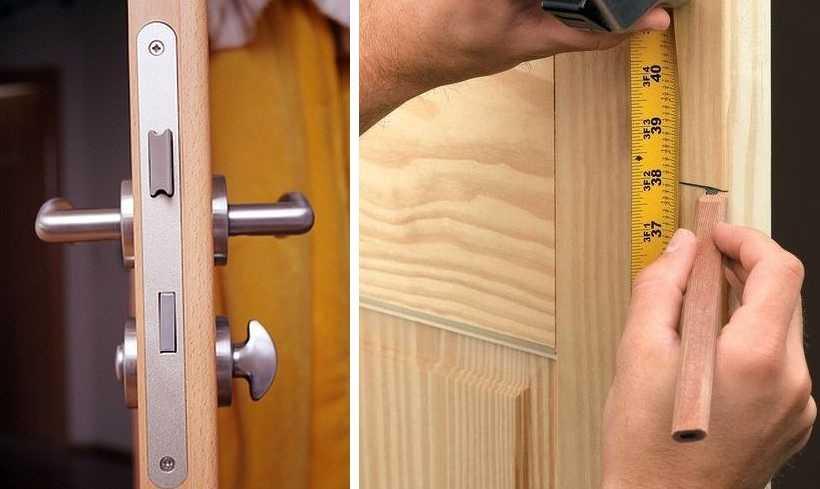 В межкомнатные двери обычно ставят замки которые закрываются без ключа