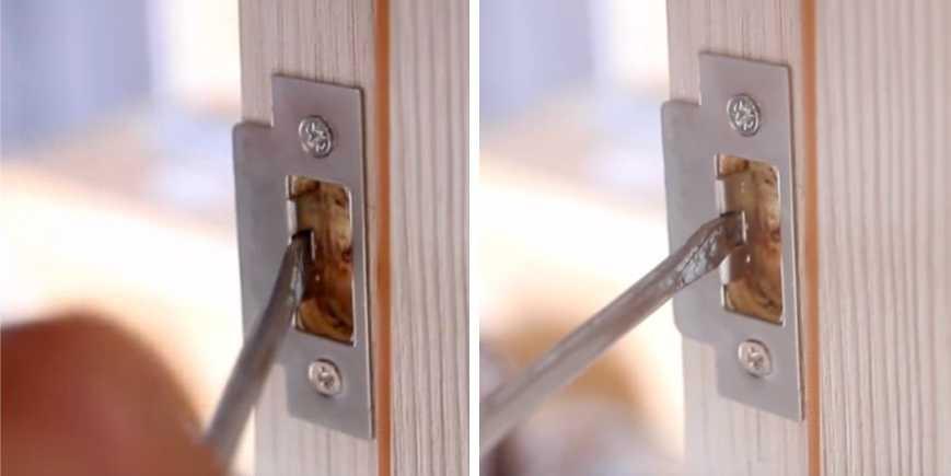 Убираем люфт закрытой двери