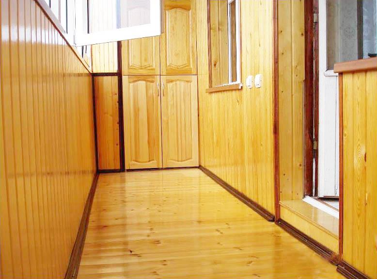 Обшивка балкона - фото