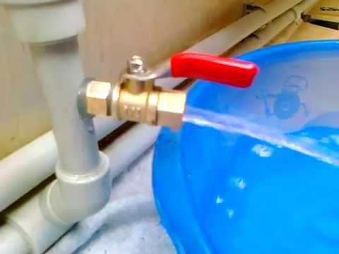 слив воды из системы отопления