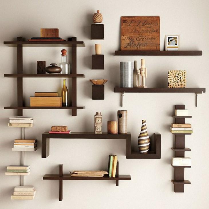 Оригинальные полки своими руками: как сделать книжные, подвесные, кухонные полки (90 фото + видео)