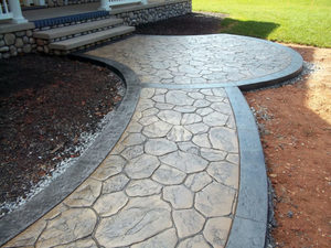 Печатный бетон