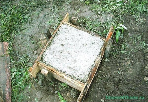 Фундамент из цементного раствора