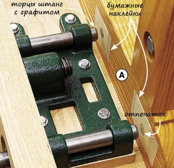 Точная маркировка отверстий на царгах верстака