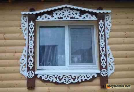 Деревянные наличники на окна – резные узоры для обрамления окон