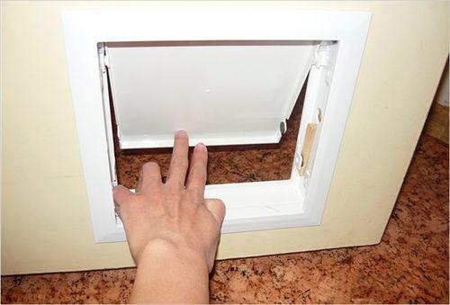 самодельная дверца из пластика