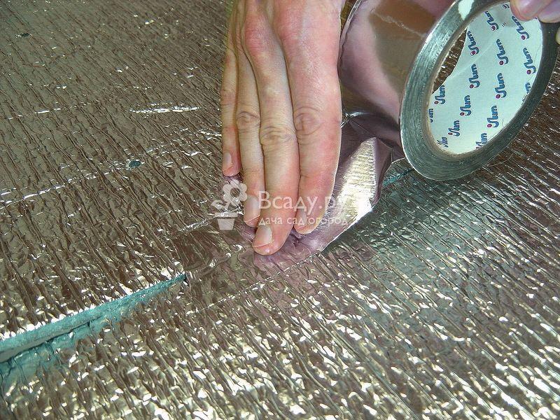 Теплый пол своими руками - герметизация стыков термоизоляции