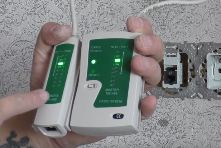 проверка китайским тестером интернет подключения кабеля utp