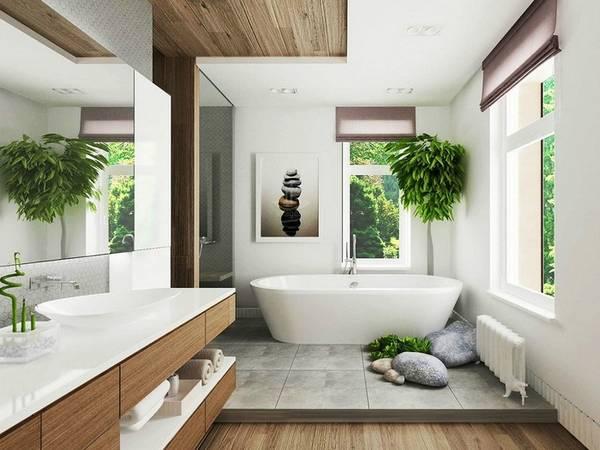 Ванная комната вчастном доме: 45 современных идей нафото