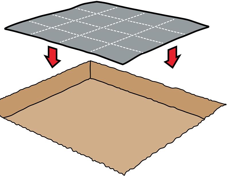 Укладка песка для песоницы на геотекстиль