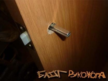 врезка замка в межкомнатные двери