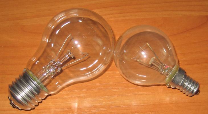 Внешний вид лампочек с разным цоколем