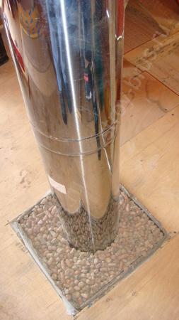 Место прохождения трубы, заполненное керамзитом