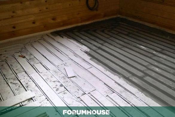 Теплый пол по деревянным перекрытиям – финская технология, адаптированная умельцами FORUMHOUSE