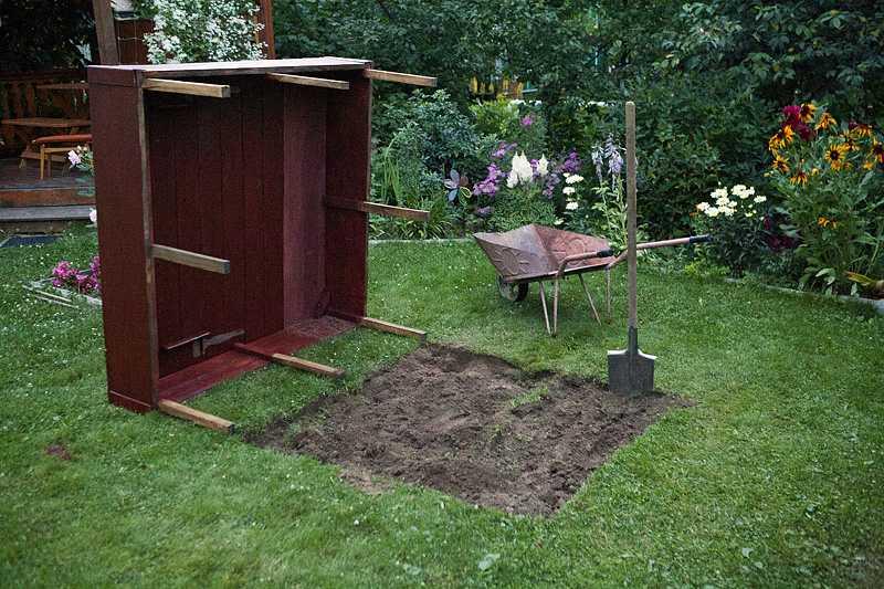 Приступаем к земельным работам - копаем котолван