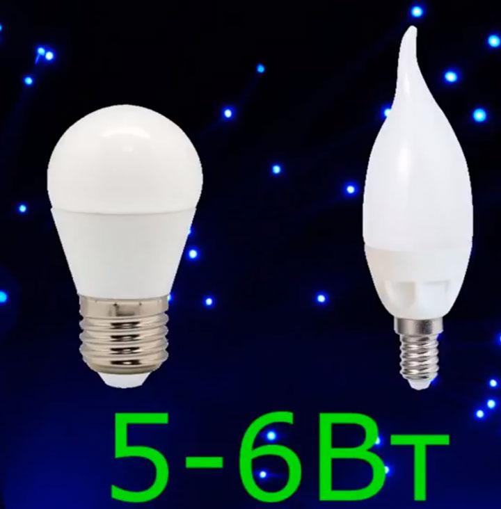 оптимальная мощность для лампы шарик или свеча