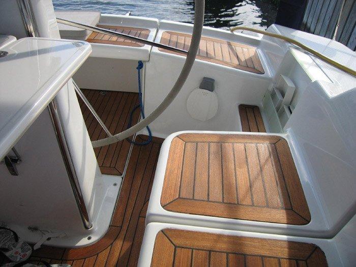 Льняная натуральная олифа в интерьере яхты, solventfreepaint.com