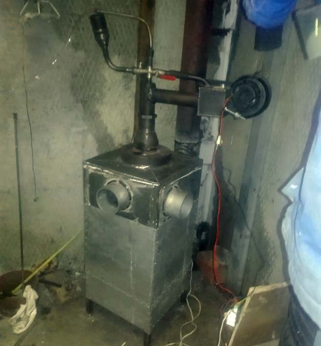 Отопитель с наддувом от вентилятора