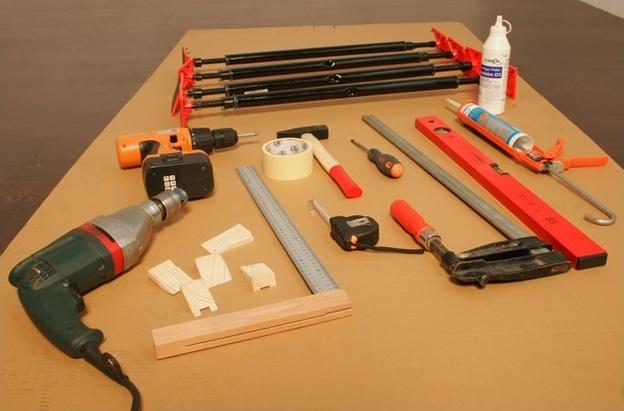 Шаг 1: готовим инструмент и материал