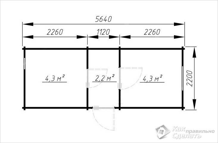 Еще пример 5.6×2.2 из проф. бруса