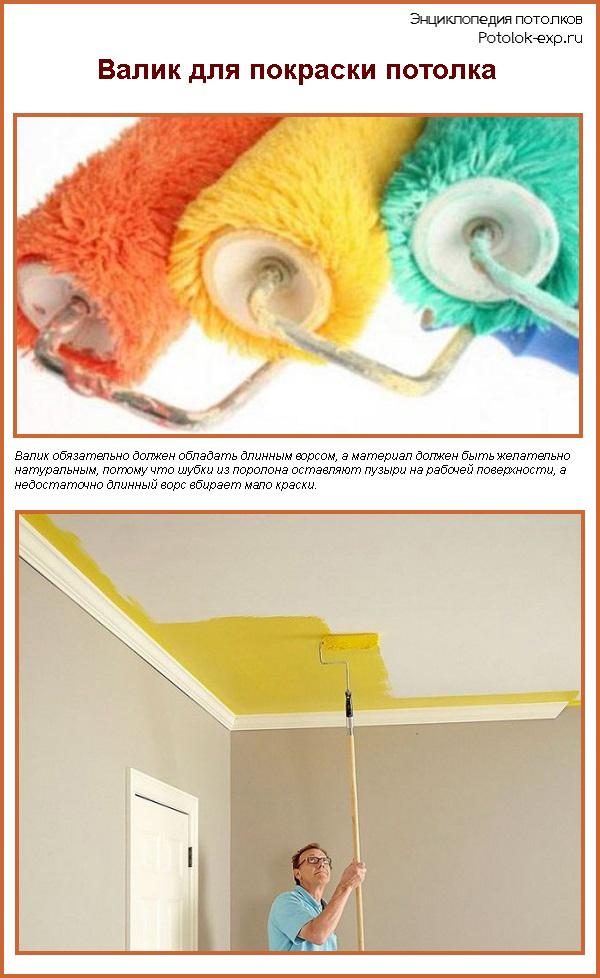 Валик для покраски потолка водоэмульсионной краской