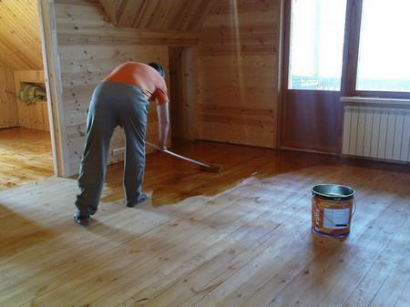 как обработать деревянную поверхность внутри дома