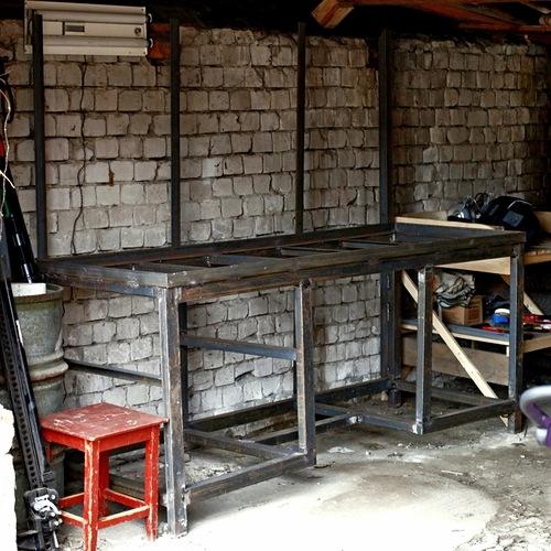 Изготовление-каркаса-столешницы
