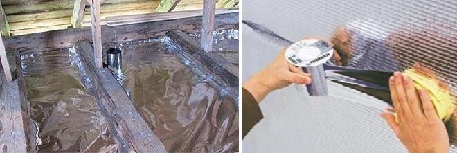 Алюминиевая фольга для пароизоляции потолка бани