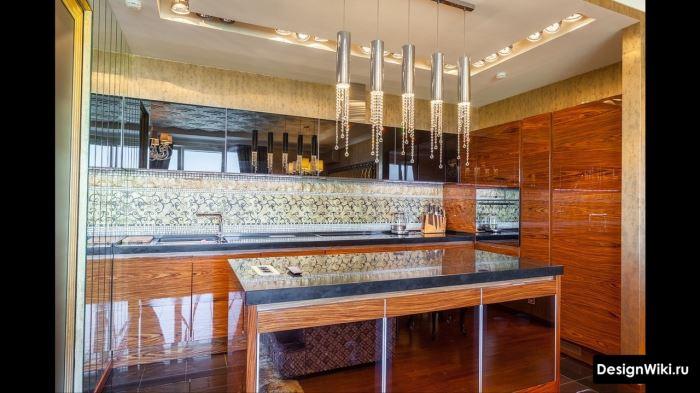 Интерьер кухни в стиле арт-деко