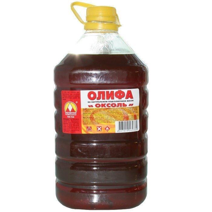 Олифа Оксоль изготовлена основе подсолнечного масла, nashaotdelka.ru