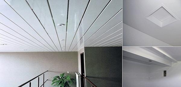 Потолки, отделанные поливинилхлоридными панелями