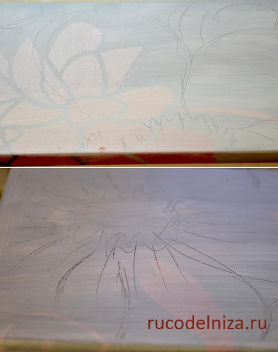 Мастер-класс: объемная картина из шпаклевки