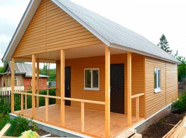 Строительство дачного каркасного дома