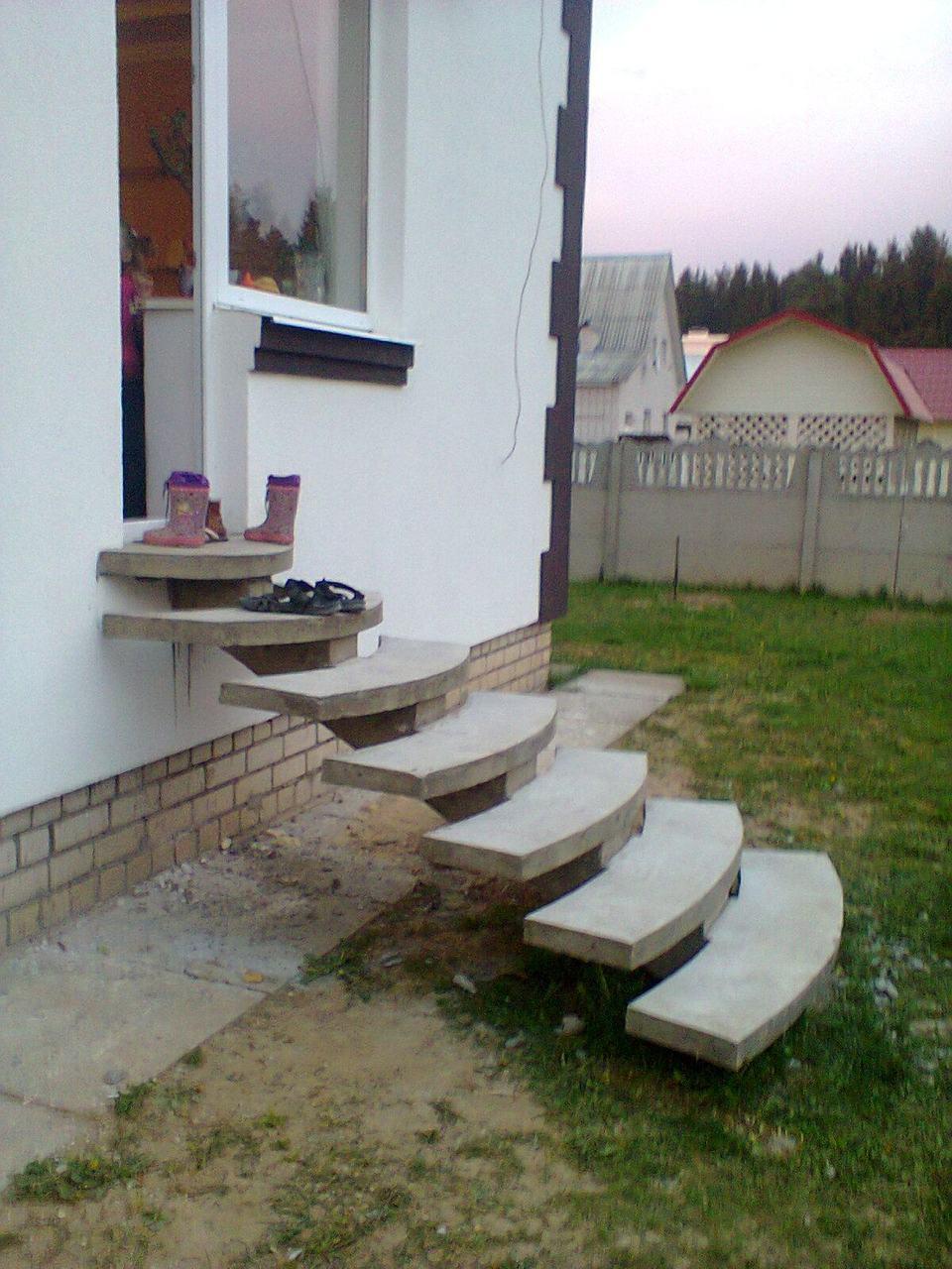 Пространственный тип бетонной лестницы