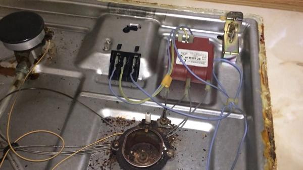 Подключение электроподжига