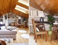 Мебель на мансарде с низким потолком