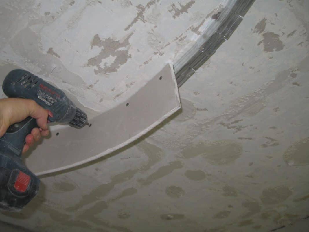 как правильно согнуть гипсокартон для арки