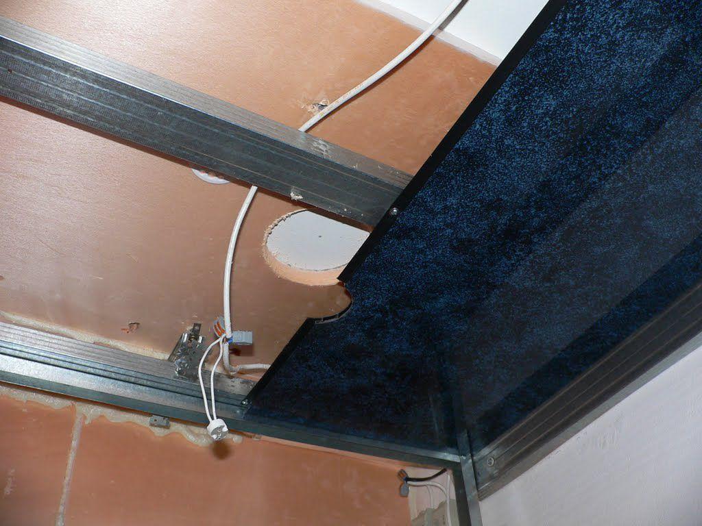 Монтаж пластикового потолка