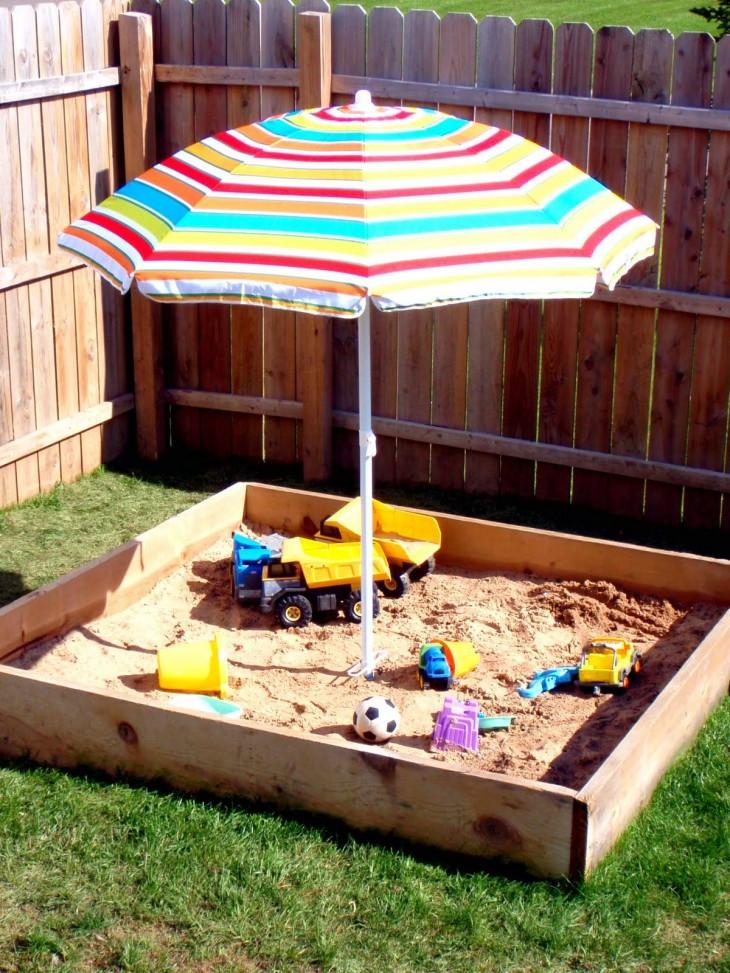 Песочница своими руками. Как строить: крытую или открытую? 56 фото идей разных вариантов