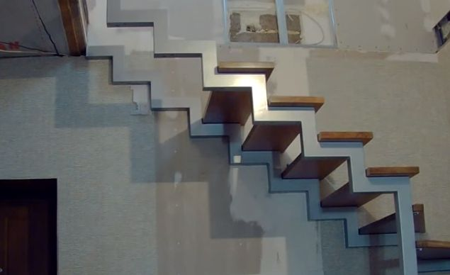 Монтаж верхних ступеней