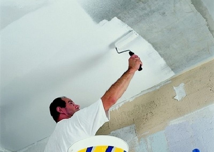 Как нанести краску на побелку. Способы подготовки потолка или стен к нанесению краски