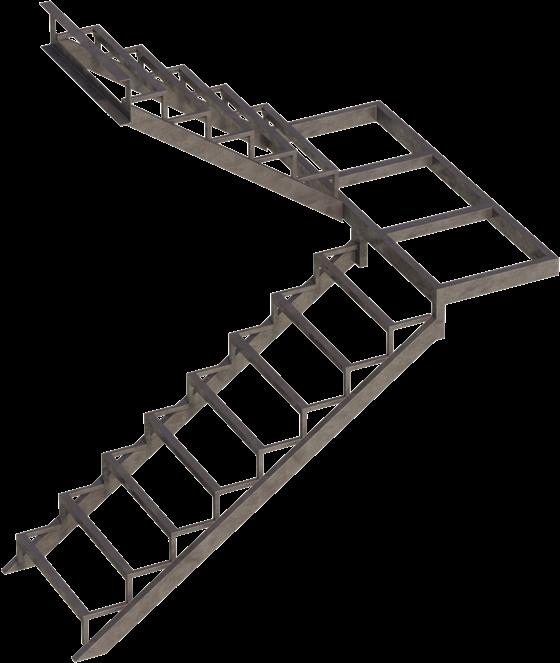 Все элементы закрытого лестничного каркаса полностью скрываются под имеющимися ступенями и всяческими декоративными панелями