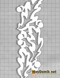 Эскиз наличников на окна - жолуди