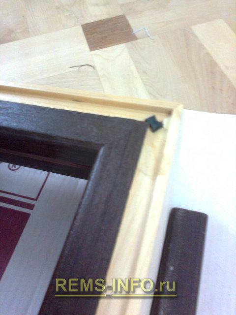 дверная коробка в собранном виде
