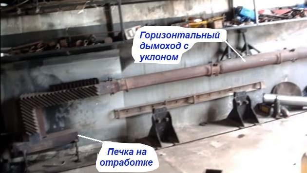 Присоединение дымохода к самодельному отопителю