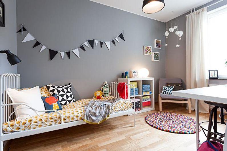 Детская комната - Дизайн квартиры в скандинавском стиле