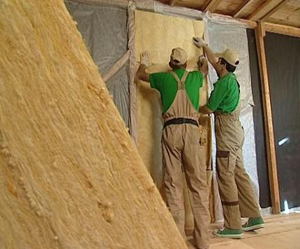 Утепление стен минеральной ватой