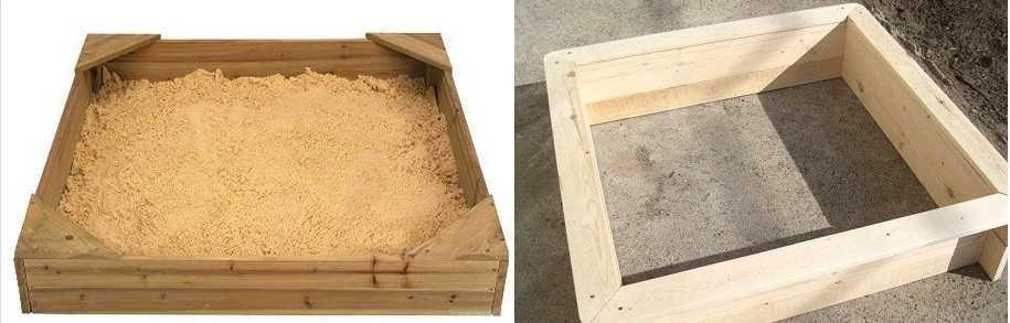 Простая песочница-короб