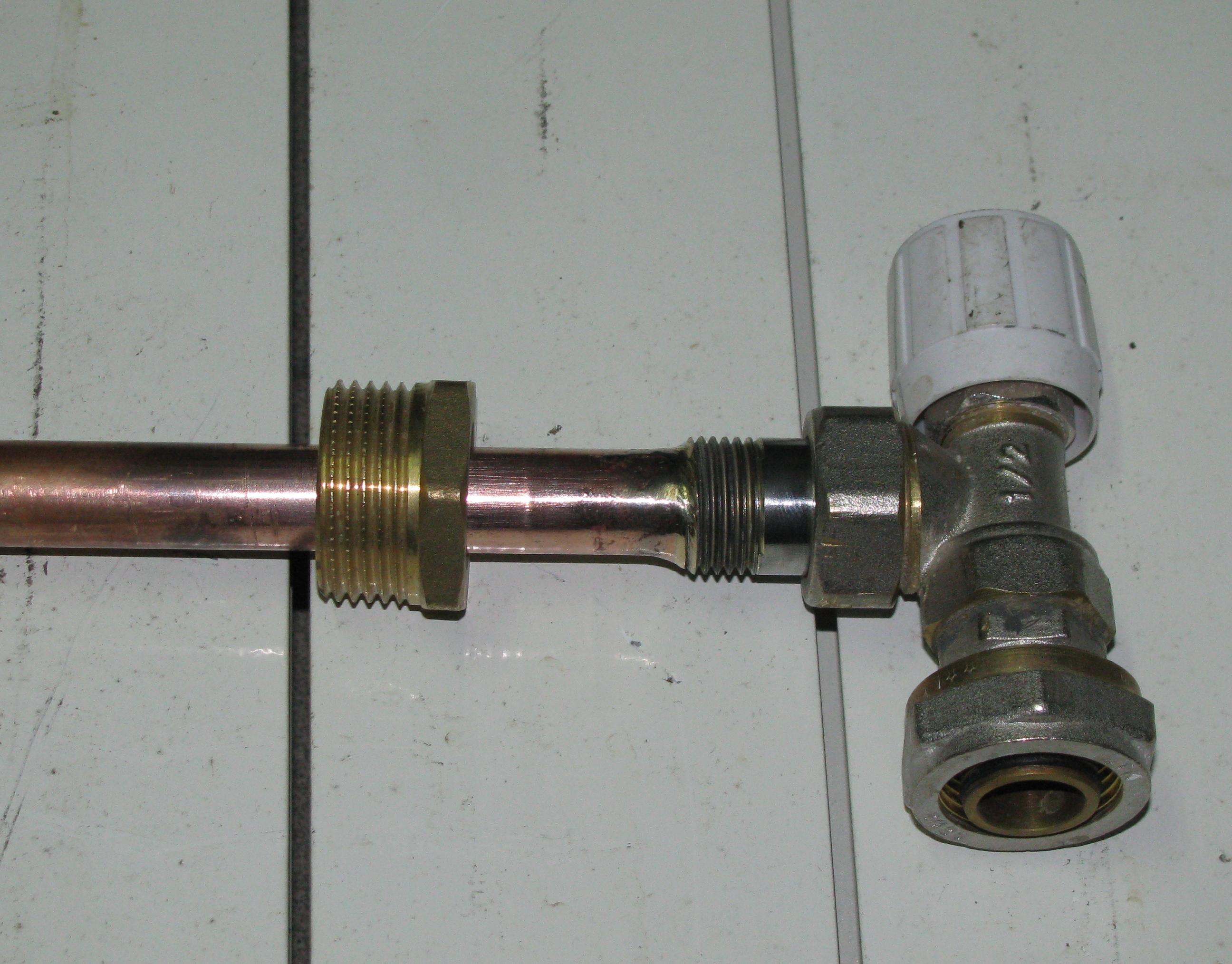 Удлинитель протока с термоголовкой для регулировки